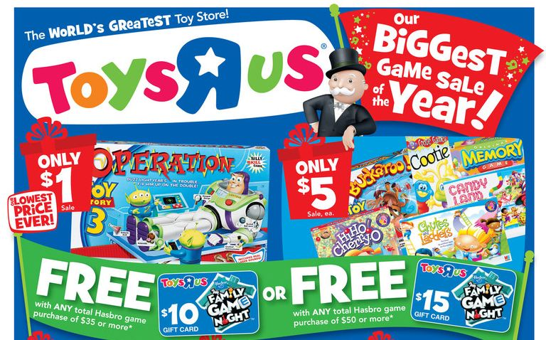 Toys R Us Deals Starting 11 6 Toy Story 3 Operation Game For 1