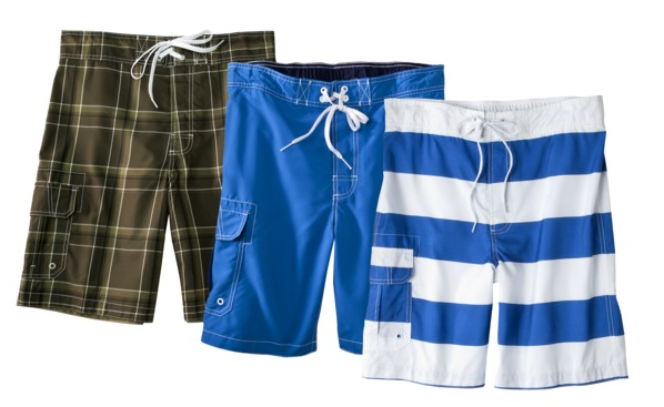7821fa3344f7d Target has a nice deal today on men's swim ...