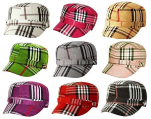 plaid-hats