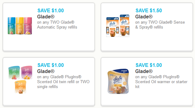 photograph about Glade Coupons Printable identified as Printable Coupon Rond-up: Glade, Revlon, Marzetti and Even more!