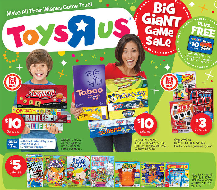 Hot Board Games For As Low As 3 Each From Toys R Us Great Price