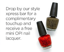 JCPenney Salon: FREE Mini Opi Nail Lacquer Today, December 7th Only!