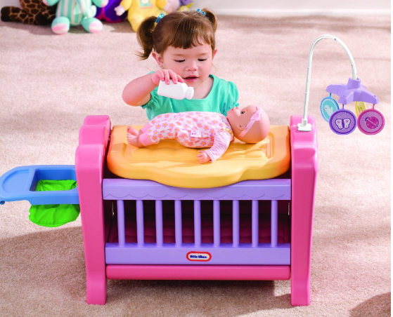 Has This Adorable Little Tikes 4 In 1 Baby Born Nursery Play Set Marked All The Way Down From 44 76 To Just 25 75 Morning