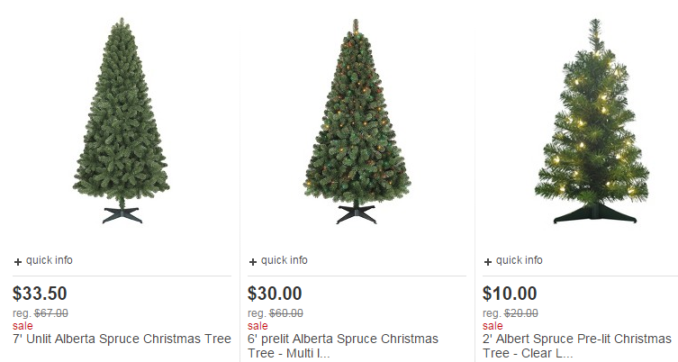 target-christmas-trees - Target: Christmas Trees For 50% Off, Starting As Low As $7 For Small
